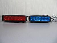 Стробоскопы светодиодные ,фара вспышка  2218-18W красно - синие , 12В, фото 1