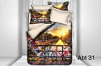 """Комплект постільної білизни ALTINBASAK Сатин 3D """"abt 31"""" Євро, фото 1"""