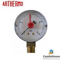 "Манометр Arthermo MA502/P 1/4"" (Ø50 мм, 0-10 бар) радиальный, нижний выход"