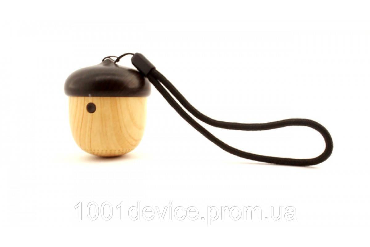 Деревянная блютуз колонка Жёлудь с микрофоном