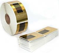 500 форм-наклеек для наращивания ногтей, одноразовые, с разметкой