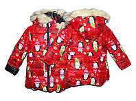 Курточки на меху для девочки Пингвин , фото 1