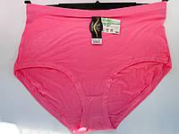 Трусы женские оптом, размер 58-62, гладкие однотонные розовые, с высокой посадкой и широкими боками