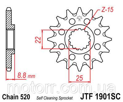 Передняя звезда JTF1901.13SC