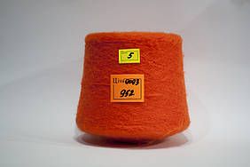 Мохер IGEA Antares col 9093,1000 м/100 г, оранжево-морковный