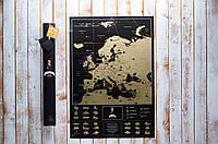 Скретч карта Европы Black на англ языке