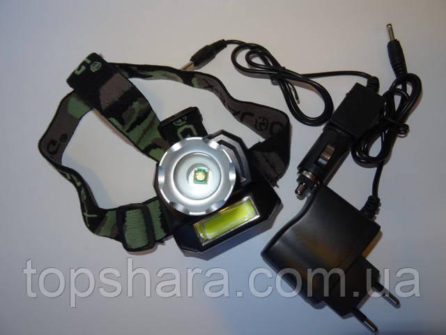 Налобный фонарь Police  BL-6811 XPE + led лента