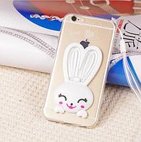 Силиконовый чехол накладка заяц для iPhone 5/5S/6/6S