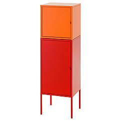 LIXHULT Комбинация д/хранения, красный, оранжевый