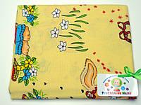 Фланелевые (байковые) пеленки (желтая с зайчиком)