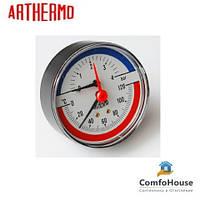 Термоманометр Arthermo TI004 аксиальный (Ø80 мм, 0-6 бар, 0-120°С)