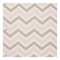 Лен 400243 v 1 зигзаг, геометрия, фрезовый, бежевый, нежно-розовый