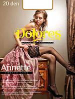 Красивые чулки с широким кружевом DOLORES ANNETTE 20 den