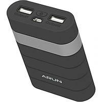 Универсальная внешняя батарея Arun Y303 7500 mAh черная