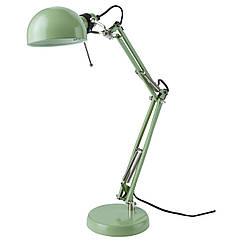 Настольная лампа IKEA FORSÅ рабочая зеленая 403.214.19