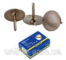 Кнопки 100 шт./уп., никелированные. BuroMax