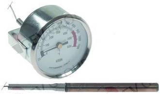 Термометр +600 °C для пицца печей, мангалов, дровяных печей и др.