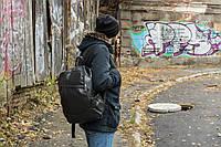 Кожаный PU рюкзак mod.Braz черный