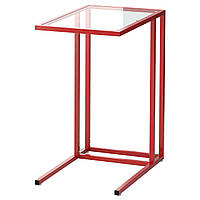 VITTSJÖ Stolik na laptop, czerwony, szkło
