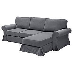 EVERTSBERG Угловой диван с контейнером, Nordvalla серый 403.325.83