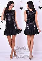 Вечернее яркое платье из пайетки