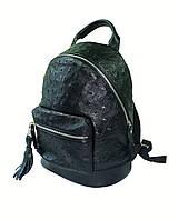 Мини рюкзак чёрный страус, фото 1