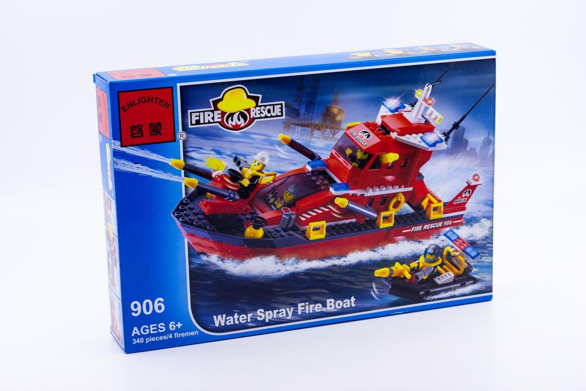 Конструктор Brick 906 Пожежний катер 340 дет