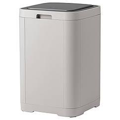 GIGANTISK Контейнер с крышкой д/мусора, светло-серый