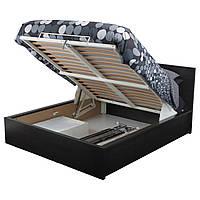 MALM Кровать с подъемным механизмом, черно-коричневый