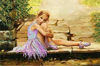Рисунок на ткани для вышивания бисером Юная балерина
