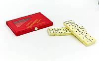 Доміно настільна гра в чохлі IG-4006P (кістки-пластик, h-3,8см, р-р чохла 15x8,5x1,5см), фото 1