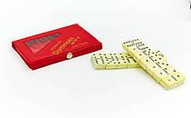 Доміно настільна гра в чохлі IG-4006P (кістки-пластик, h-3,8см, р-р чохла 15x8,5x1,5см)