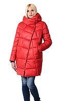 Женская зимняя куртка прямого силуэта 203 красный
