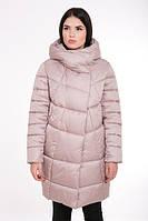 Женская зимняя куртка прямого силуэта 203 пудра
