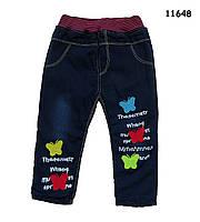 Теплые джинсы для девочки. 3, 4, 6 лет