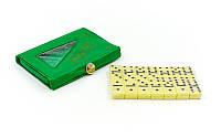 Доміно настільна гра в чохлі IG-2804 (кістки-пластик, h-2,2 см, р-р чохла 10,5x7x1 см), фото 1