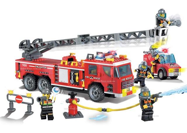 Детский Конструктор Пожарная охрана Brick 908