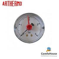 "Манометр Arthermo MA551/P 1/4"" (Ø50 мм, 0-6 бар) аксиальный, задний выход"