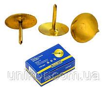Кнопки 100 шт./уп., золотистые. BuroMax