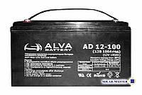 Свинцово-кислотный аккумулятор ALVA AD12-100Ач