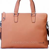 Мужская сумка портфель Kabinias бежевый