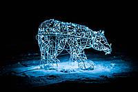 Медведь новогодний, высота 120 см; гирлянда внешняя LED 150 лампочек