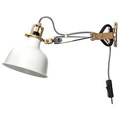 RANARP Настенный софит/лампа с зажимом, белый с оттенком 102.313.21