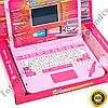 Детский обучающий компьютер розовый с интерактивной ручкой и мышкой англо-русский 7025