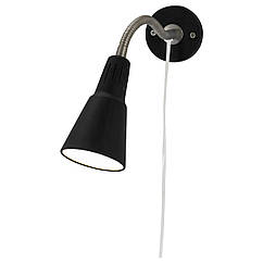 KVART Настенный софит/лампа с зажимом, черный 601.524.44