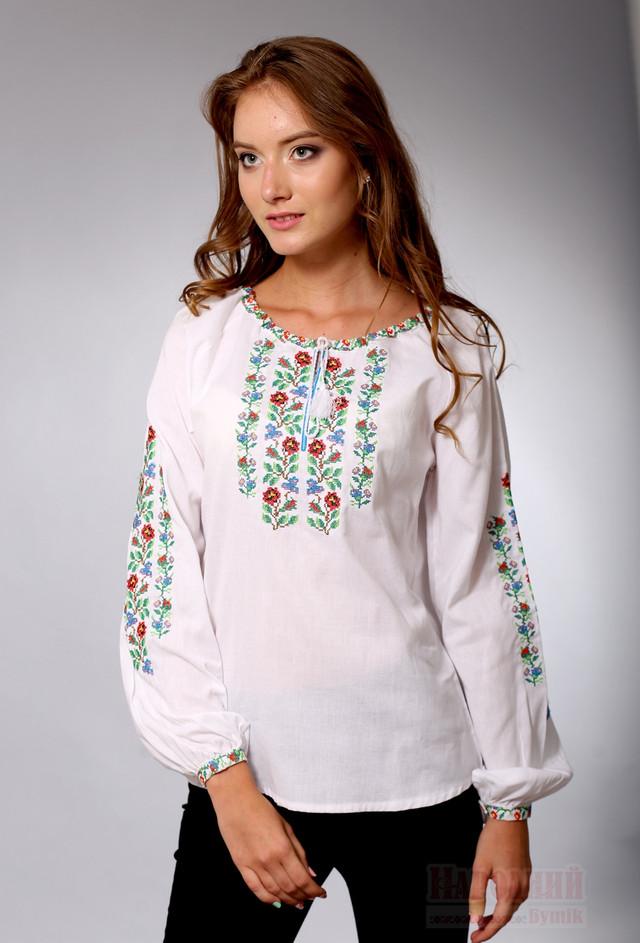 Белая женская вышиванка Гуцулка