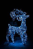 Олень новогодний, высота 240 см; гирлянда внешняя LED 500 лампочек, фото 1