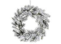 Новогодний  венок из заснеженной хвои, 38 см