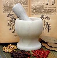 Ступка мраморная белая (10х10х10 см)