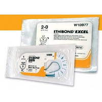 Етібонд Ексел 2/0 білий і зелений W10B72 2/0 5 і 5(№10) 75см 2кол-ріж(тап)26мм 1/2ко